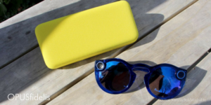 The new snapchat spectacles and case